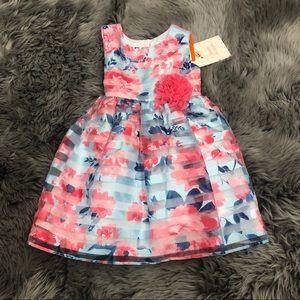Jona Michelle | Girls Pink & Blue Floral Dress